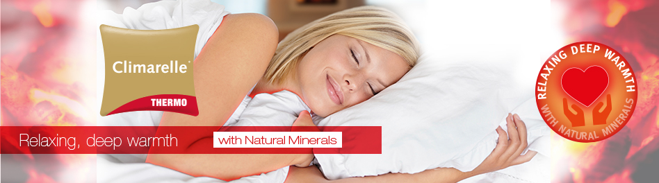 Relaxing deep warmth with natural minerals